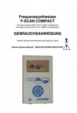 FSLIT101   Instruction manual F-SCAN COMPACT