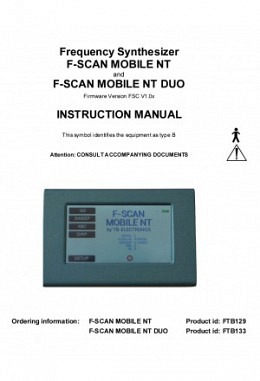 FSLIT103   F-SCAN MOBILE NT und NT DUO Instruction manual