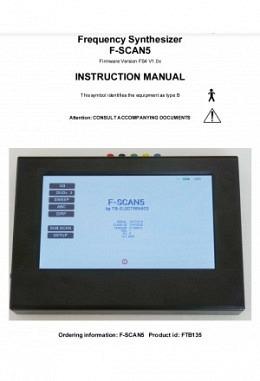FSLIT109   F-SCAN5 Instruction manual