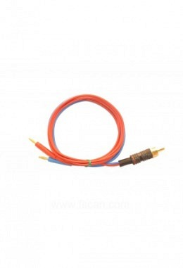 FTB208   Cable CHINCH to 2x2mm red blue